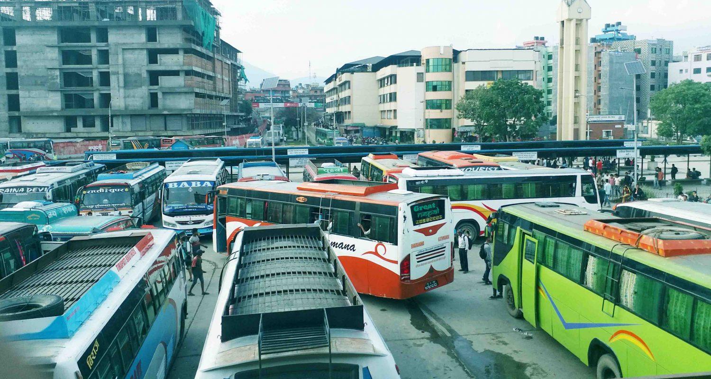 काठमाडौंको गोङ्गबुस्थित नयाँ बसपार्क